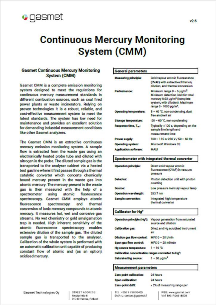 Gasmet CMM